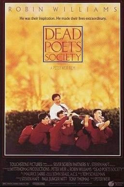 Dead Poets Society movie poster with Robin Williams and various school boys